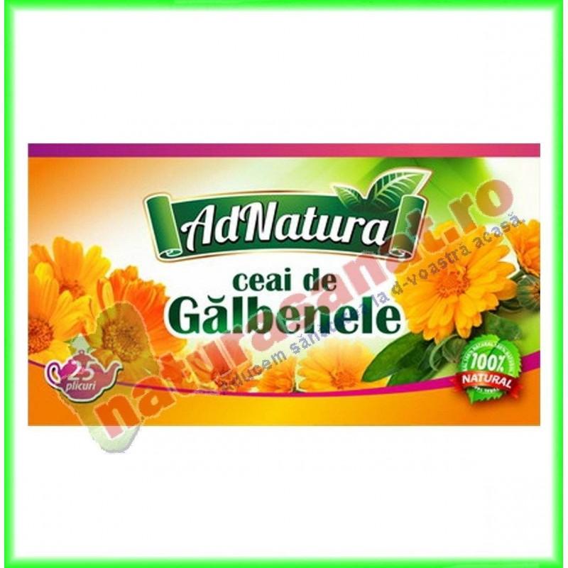 Ceai Galbenele Flori 20 plicuri - Ad Natura - www.naturasanat.ro