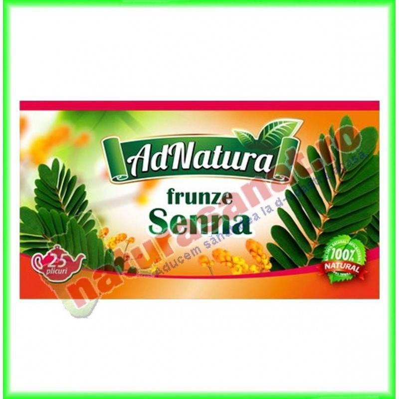 Ceai Senna Frunze 20 plicuri - Ad Natura - www.naturasanat.ro
