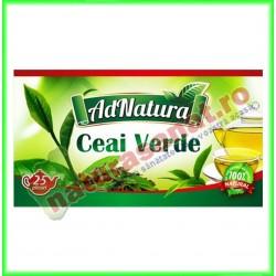 Ceai Verde Frunze 20 plicuri - Ad Natura - Adserv