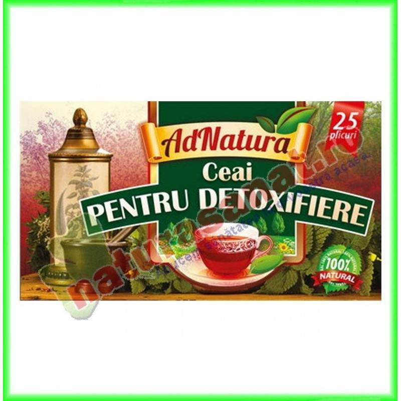 Ceai Pentru Detoxifiere 20 plicuri - Ad Natura - www.naturasanat.ro