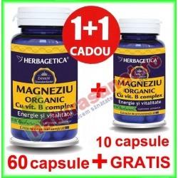 Magneziu Organic PROMOTIE 60+10...