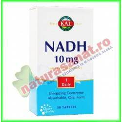 NADH 10 mg 30 tablete filmate...