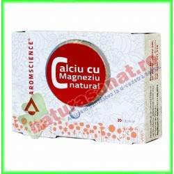 Calciu cu Magneziu Natural 20 capsule - Bionovativ - Aromscience