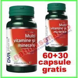 Multivitamine si minerale PROMOTIE 60+30 capsule - DVR Pharm