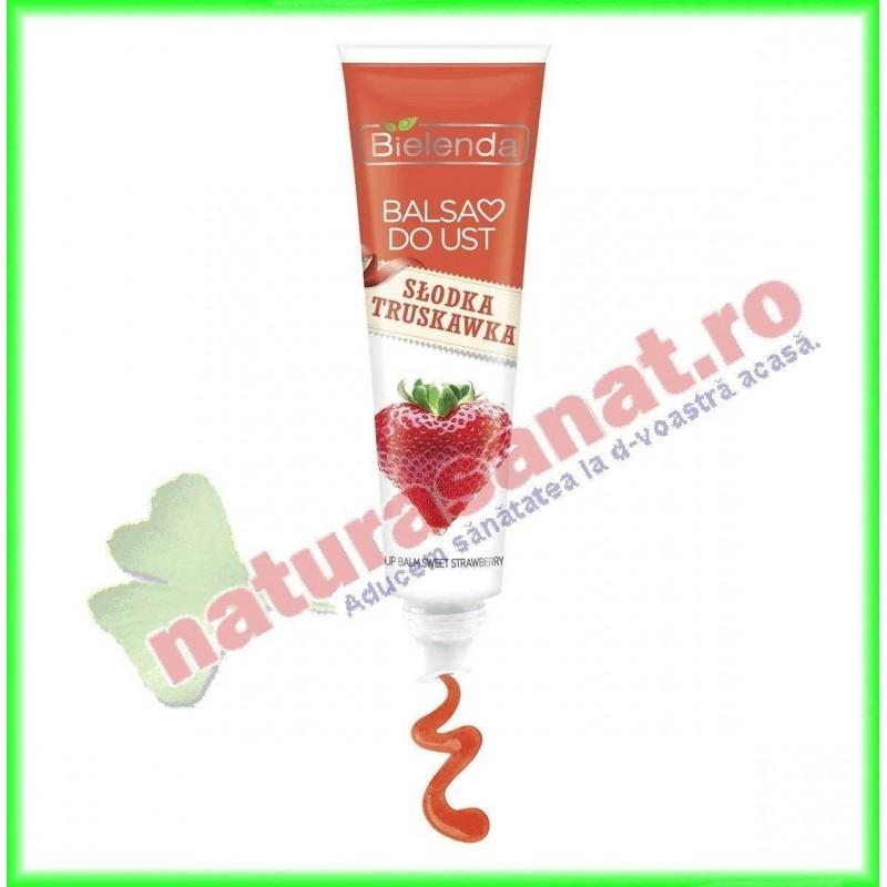 Balsam de buze cu aroma de Capsuni FRUITY LINE 10 g - Bielenda