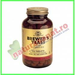 Brewers Yeast 500 mg ( Drojdie de bere cu vitamina B12 ) 250 tablete - Solgar