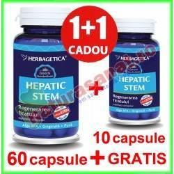 Hepatic Stem PROMOTIE 60+10 capsule GRATIS - Herbagetica