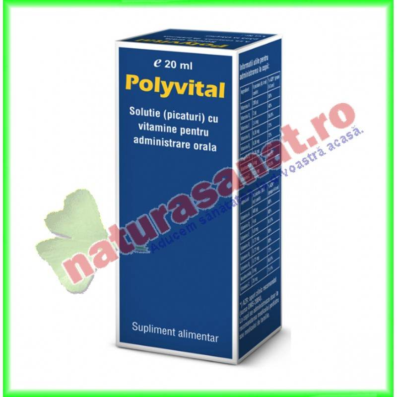 Polyvital Picaturi 20 ml - Pharco Impex 93 - www.naturasanat.ro