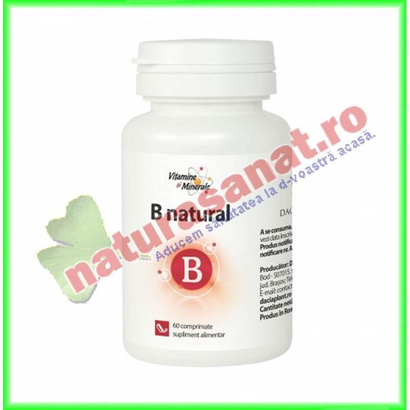B Natural 60 comprimate - Specialistii Plantelor Dacia Plant