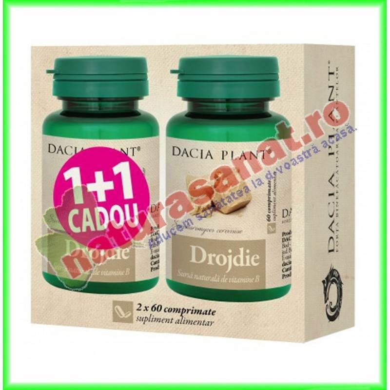 Drojdie PROMOTIE 1+1 GRATIS ( 2 flacoane cu 60 comprimate fiecare ) - Dacia Plant