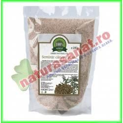 Seminte Canepa Pisate 250 g - Carmita