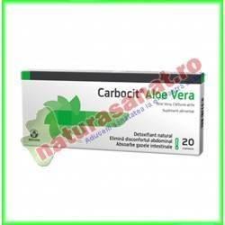 Carbocit Carbune medicinal activ si cu Aloe Vera 20 comprimate de 250mg - Biofarm