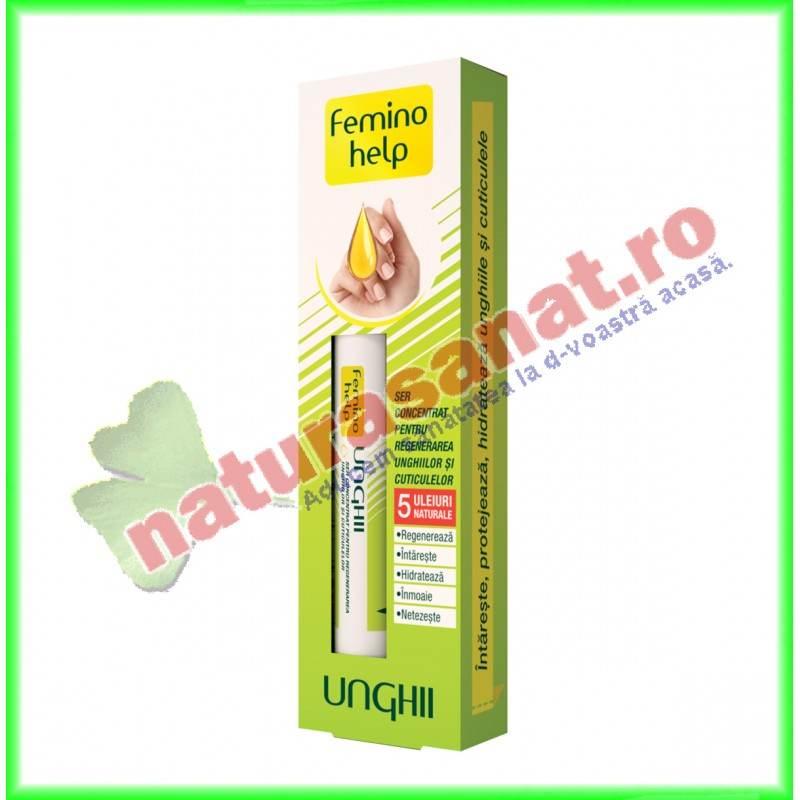 Femino Help Unghii Ser concentrat pentru regenerarea unghiilor si cuticulelor 2 ml - Zdrovit