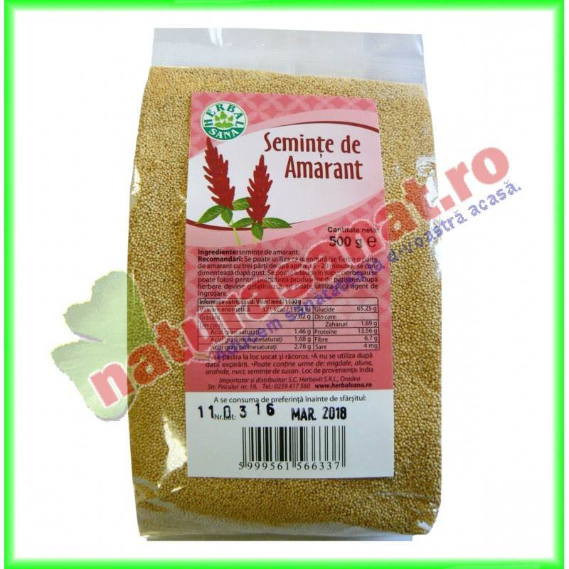 Amarant Seminte 500 g Herbalsana - Herbavit
