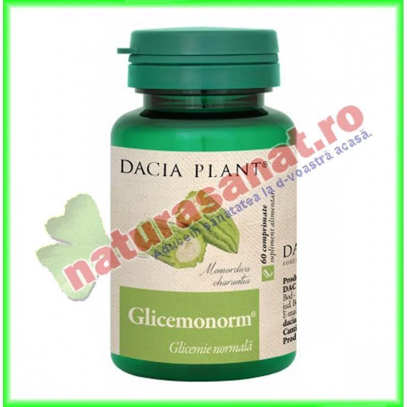 Glicemonorm 60 comprimate - Dacia Plant