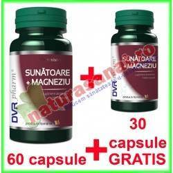 Sunatoare + Magneziu PROMOTIE 60+30 capsule GRATIS - DVR Pharm