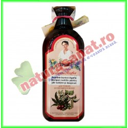 Sampon Nutritiv pentru Par Subtire si Despicat 350 ml - Bunica Agafia