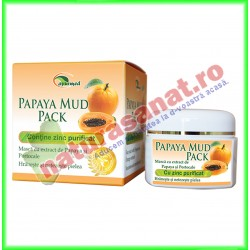 Masca cu extract de Papaya si Portocale (Papaya Mud Pack) 50 g - Star International