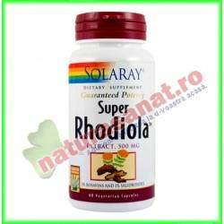 Super Rhodiola 500mg 30 capsule vegetale - Solaray - Secom
