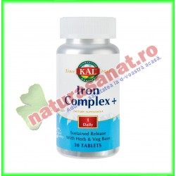 Iron Complex + 30 tablete - KAL Solaray - Secom