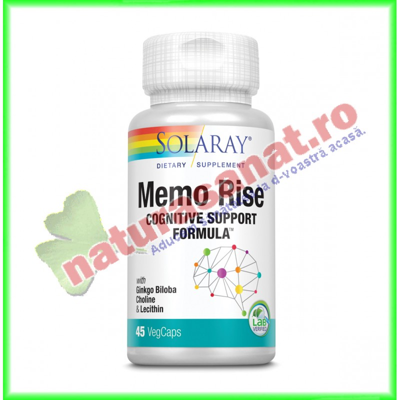 Memo Rise 45 capsule vegetale - Solaray - Secom