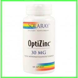 OptiZinc 30 mg 60 capsule vegetale - Solaray - Secom