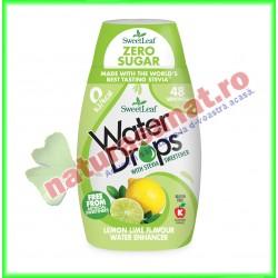 Water Drops cu Lamaie si Lime ( Indulcitor Stevie ) 48 ml - Sweetleaf