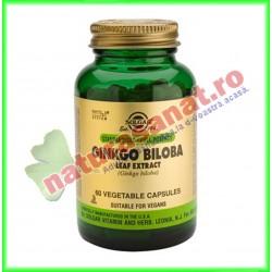 Ginkgo Biloba Leaf Extract (Extract din frunze de Ginkgo Biloba) 60 capsule - Solgar