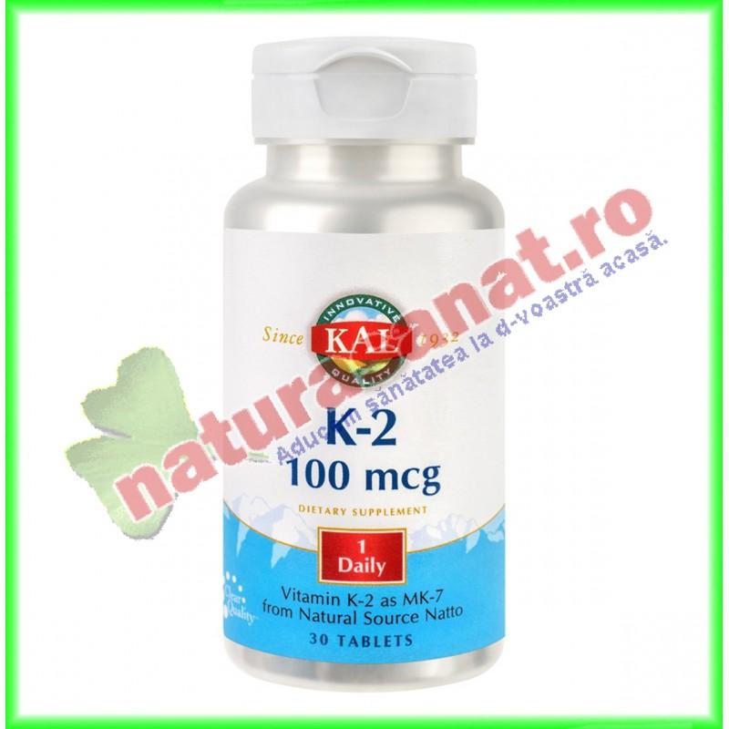 Vitamin K-2 100mcg 30 tablete ActivTab - KAL - Secom