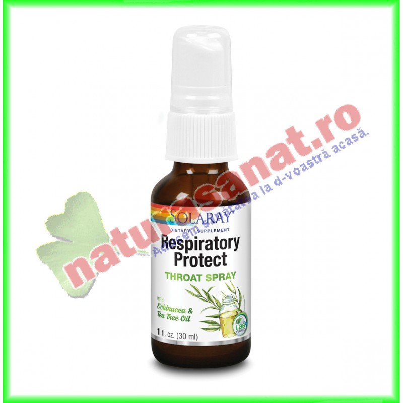 Respiratory Protect Throat Spray 30 ml - Solaray - Secom