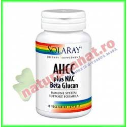 AHCC plus NAC & Beta Glucan 30 capsule vegetale - Solaray - Secom
