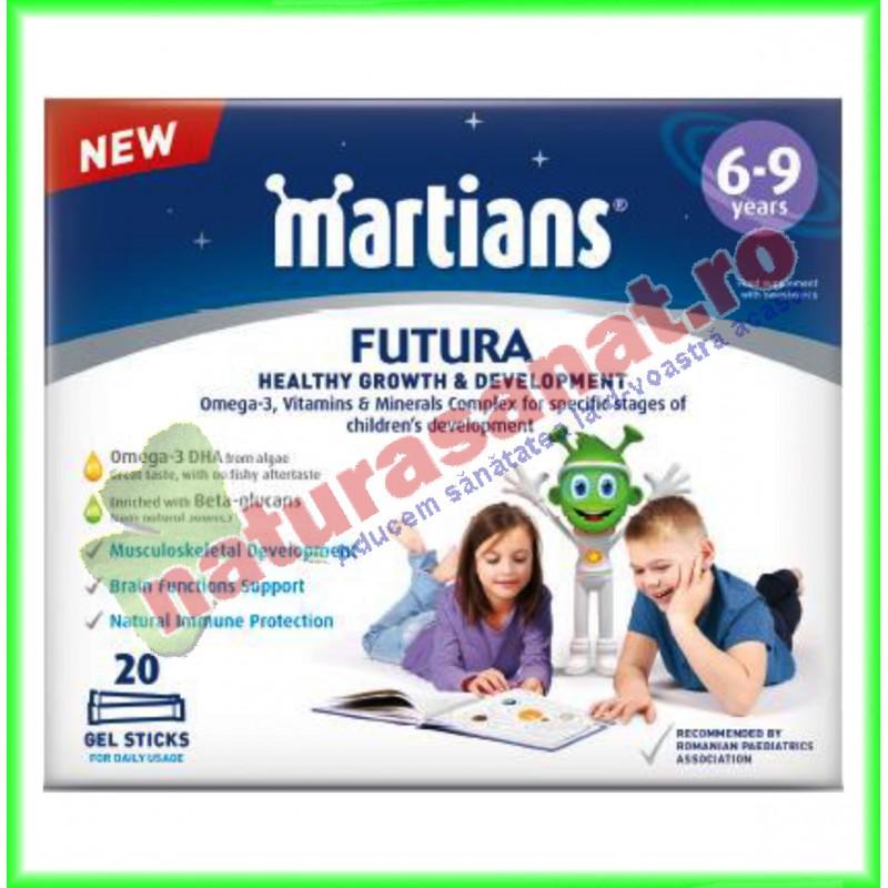 Minimartieni Futura Gel 6-9 ani 20 plicuri - Walmark