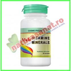 Multivitamine si Multiminerale 30 tablete - Cosmopharm