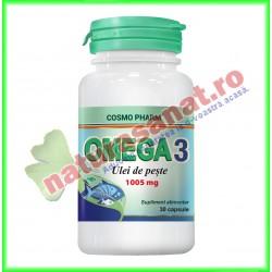 Omega 3 Ulei de Peste 1005 mg 30 capsule - Cosmopharm