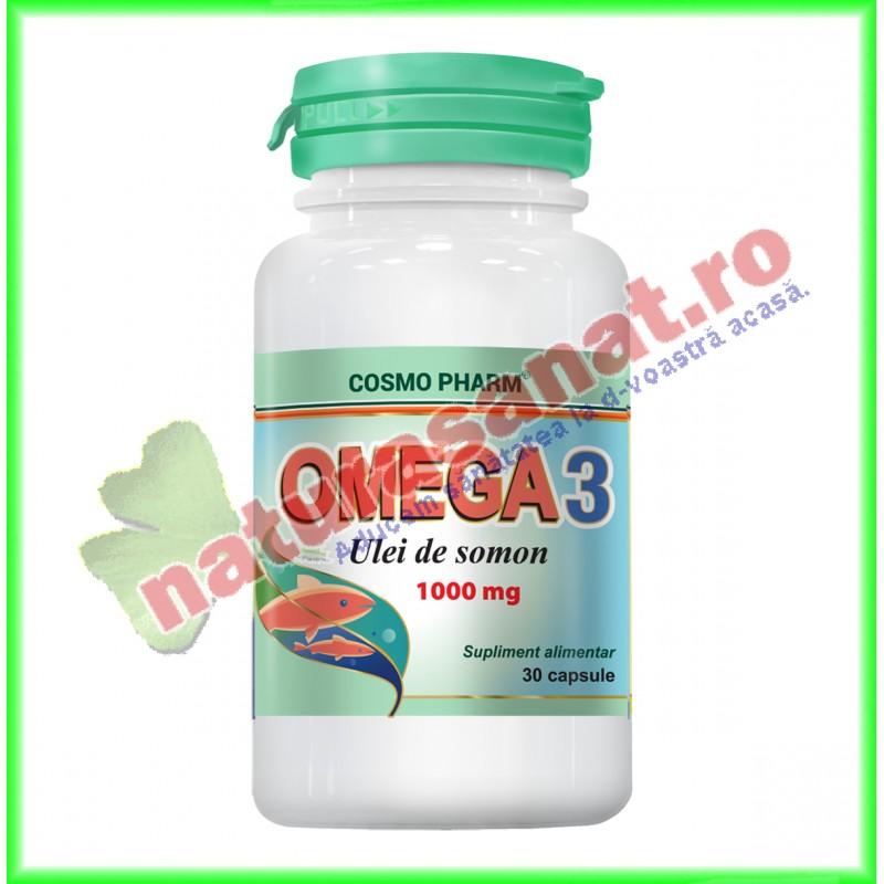 Omega 3 Ulei de Somon 100 mg 30 capsule - Cosmopharm