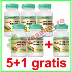 Multivitamine si Multiminerale 30 tablete PROMOTIE 5+1 GRATIS - Cosmopharm