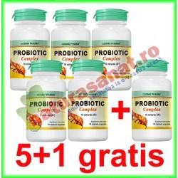 Probiotic Complex 30 capsule PROMOTIE 5+1 GRATIS - Cosmopharm