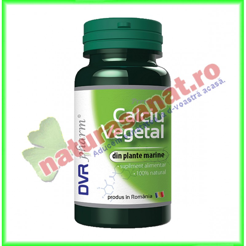 Calciu Vegetal ( din plante marine ) 60 capsule - DVR Pharm