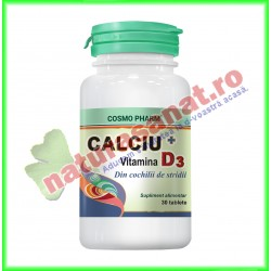Calciu + Vitamina D3 30 tablete - Cosmo Pharm