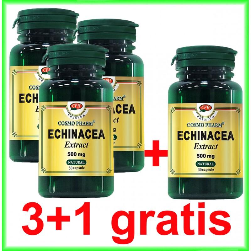 Echinacea Extract 500 mg 30 capsule PROMOTIE 3+1 GRATIS - Cosmo Pharm