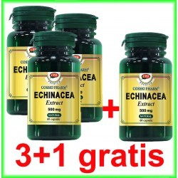 Echinacea Extract 500 mg 60 capsule PROMOTIE 3+1 GRATIS - Cosmo Pharm