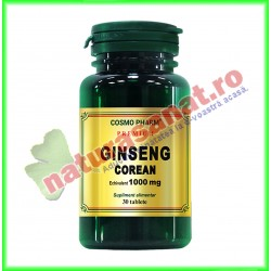 Ginseng Corean (Panax ginseng) 100 mg 30 capsule - Cosmo Pharm