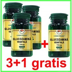 Glucozamina Vegetala 750 mg 60 capsule PROMOTIE 3+1 GRATIS - Cosmo Pharm