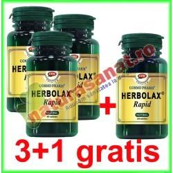 Herbolax Rapid 60 capsule PROMOTIE 3+1 GRATIS - Cosmo Pharm