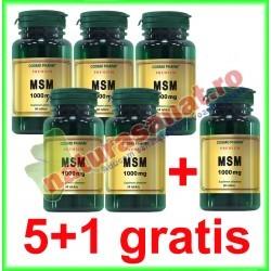 MSM ( Metilsulfonilmetan ) 1000 mg 60 tablete PROMOTIE 5+1 GRATIS - Cosmo Pharm