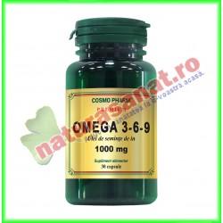 Omega 3-6-9 Ulei de In 1000 mg 30 capsule - Cosmo Pharm