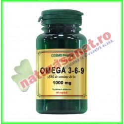 Omega 3-6-9 Ulei de In 1000 mg 60 capsule - Cosmo Pharm