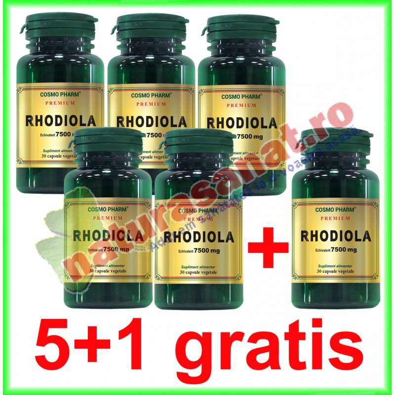 Rhodiola Extract 500 mg 30 capsule PROMOTIE 5+1 GRATIS - Cosmo Pharm