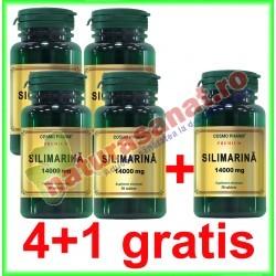 Silimarina 14000 mg 30 capsule PROMOTIE 4+1 GRATIS - Cosmo Pharm