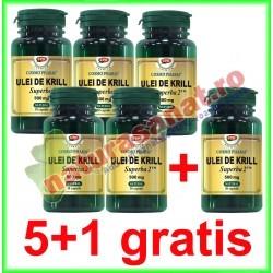 Ulei de Krill Superba 2 500 mg 30 capsule PROMOTIE 5+1 GRATIS - Cosmo Pharm